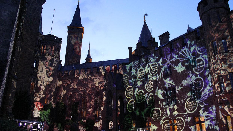 Pani Projektion Burg Hohenzollern